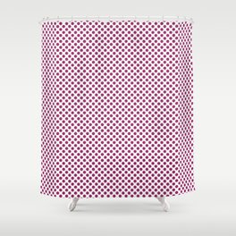 Festival Fuchsia Polka Dots Shower Curtain