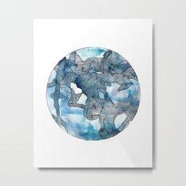 Blue Labyrinth Metal Print