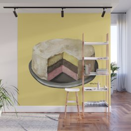 Neapolitan Cake Wall Mural