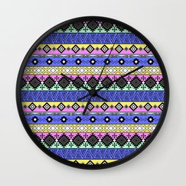 Ornament in the style of hippies 1. Wall Clock