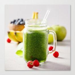 green smoothie Canvas Print