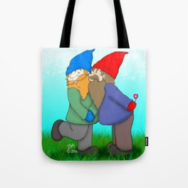 Gnomes In Love Tote Bag