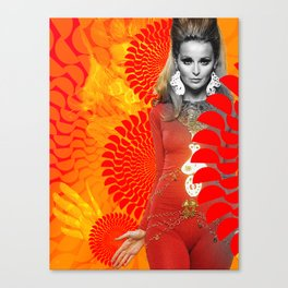 Supermodel Samantha 1 - Supermodels of the Sixties Series Canvas Print