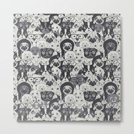 Pattern With Cute Dogs Metal Print