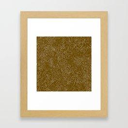 Doodling on Brown Framed Art Print