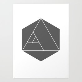 golden ratio tetrahedron Art Print