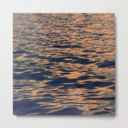 Spectacular Sunset Reflections Illuminating Peaceful Ocean Metal Print