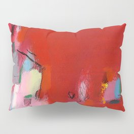 ABSTRACT GICLEE print from Abstract original red Painting Pillow Sham
