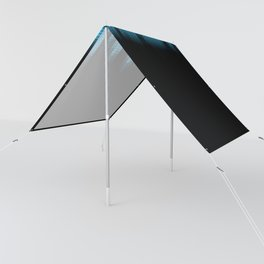Cool Blue Graphic Equalizer Music on black Sun Shade