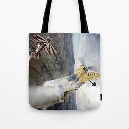 Aerobatic duel Tote Bag