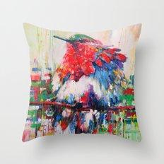 colorful bird- nature  Throw Pillow