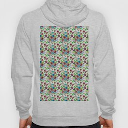 Bohemian modern pink blue green watercolor floral Hoody