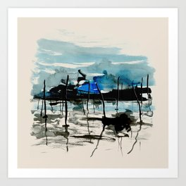 Bassin d'Arcachon, storm Art Print