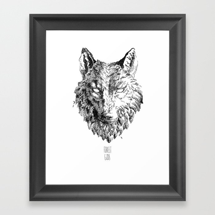 Forest Gods | Wolf Framed Art Print
