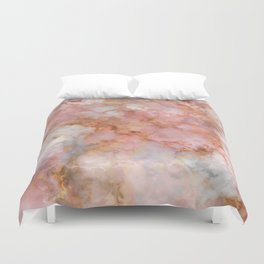 Beautiful & Dreamy Rose Gold Marble Duvet Cover