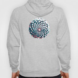 pine cone pattern in coral, aqua and indigo Hoody