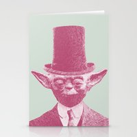 yoda Stationery Cards featuring Yoda by NJ-Illustrations