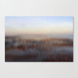 Cold Winter Beach Canvas Print