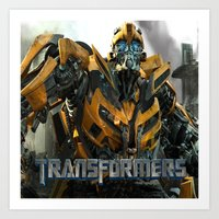 transformers Art Prints featuring transformers by store2u