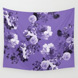 Modern trendy floral ultra violet purple pattern Wall Tapestry