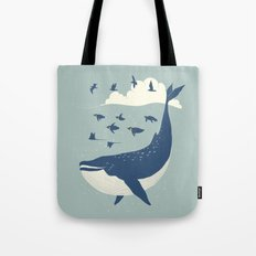 Fly in the sea Tote Bag