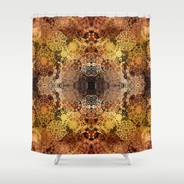FLORAL GOLD PATTERN I Shower Curtain