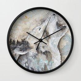 "Animal - ""Sweet Wolf"" - by LiliFlore Wall Clock"