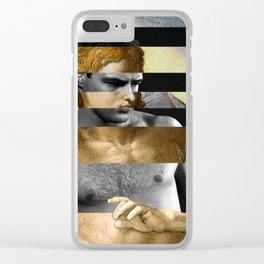 Michelangelo's Christ & Marlon Brando Clear iPhone Case