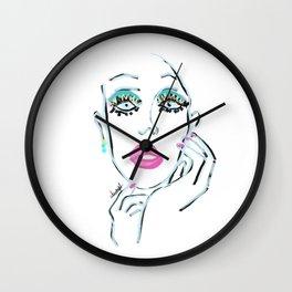 portrait 3 Wall Clock