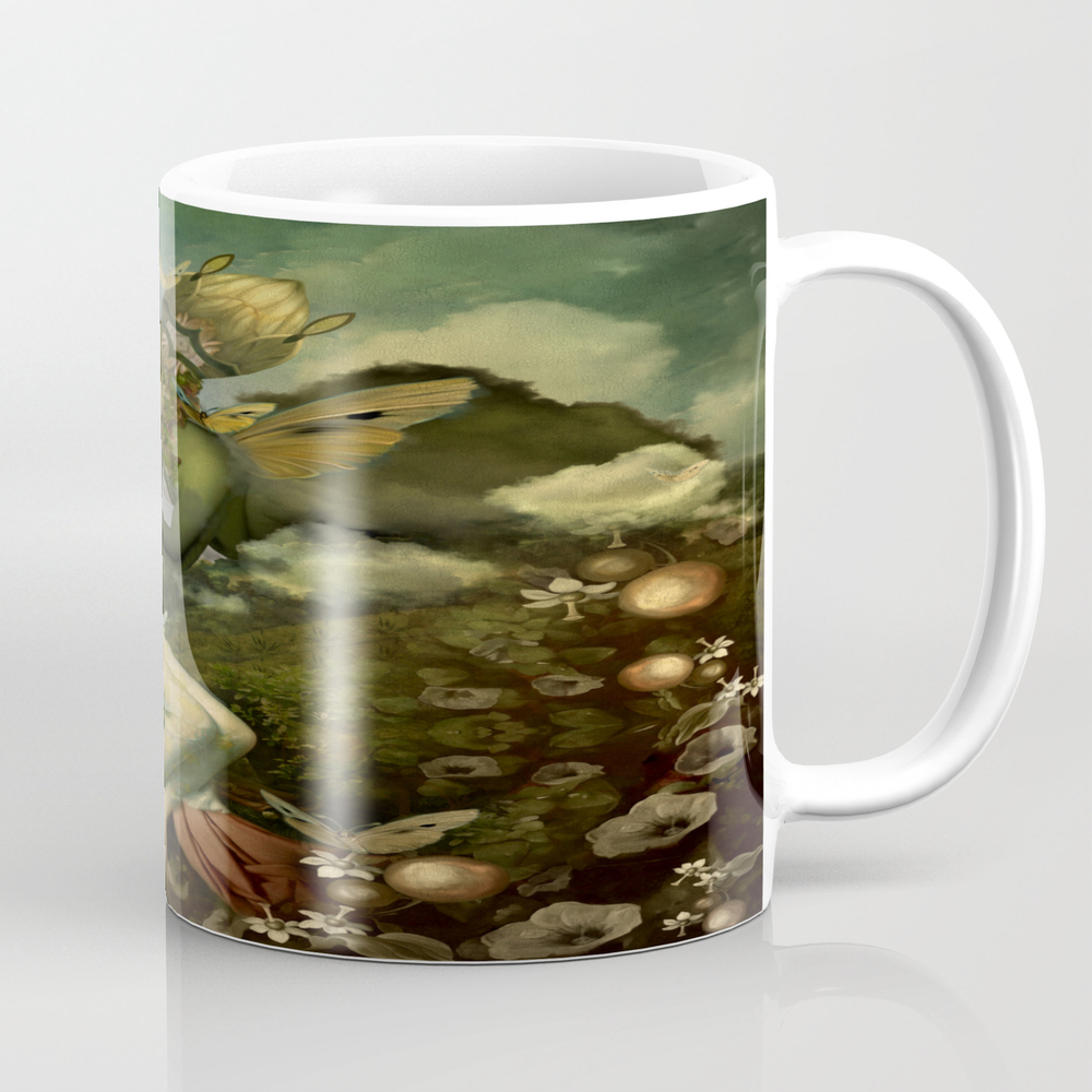 """""""""""the Body, The Soul And The Garden Of Love"""""""" Tea Cup by Marcanton"""" MUG8909677"""