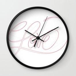 Love (ON THE BRAIN) Wall Clock