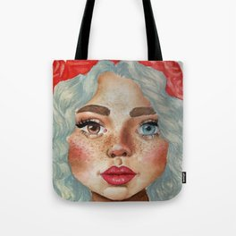 'Girl With Flower Crown' Tote Bag