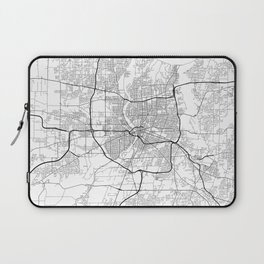 Minimal City Maps - Map Of Rochester, New York, Untited States Laptop Sleeve