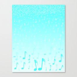 Snowing Music Canvas Print