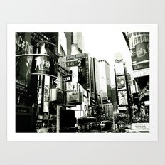 WHITEOUT : Life in the City Art Print