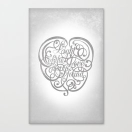 Light of the Love Canvas Print