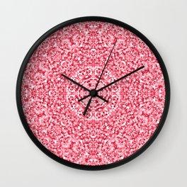 """Magnolia ~ Amaranth Red"" - (Original Digital Artwork by Vincent Ferraro) Wall Clock"