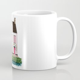Pink and White House in Bruges Coffee Mug