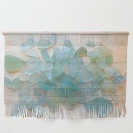Ocean Hue Sea Glass Wall Hanging