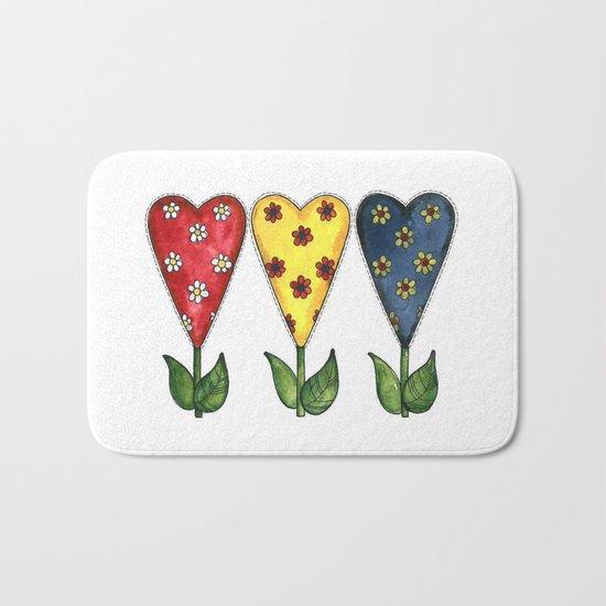 Hearts & Flowers Bath Mat