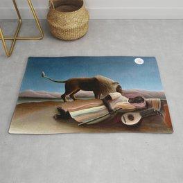 """Henri Rousseau """"The Sleeping Gypsy"""" Rug"""