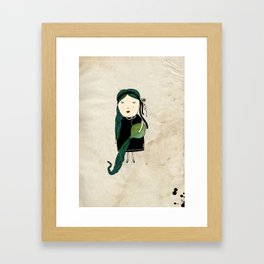 Aquario Girl Framed Art Print