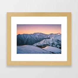 Winter Mountain View Framed Art Print