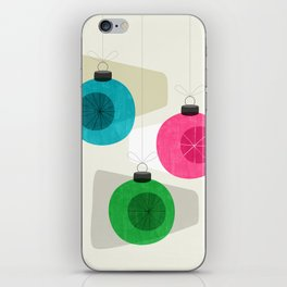 Retro Holiday Baubles iPhone Skin
