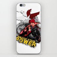 "infamous iPhone & iPod Skins featuring InFamous Second Son - ""ENJOY YOUR POWER"" by Emme Gray"