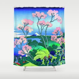 Hokusai 1760–1849 Goten Yama Hill Shinagawa On The Tōkaidō Shower Curtain