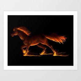 Fire Trail Horse Art Print
