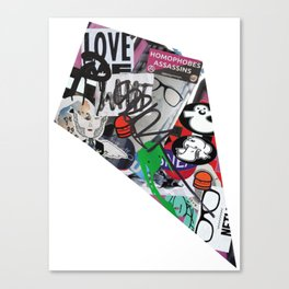 Paris Graffiti: 3rd Arrondissement Canvas Print