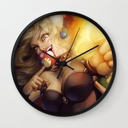 Bowsette Wall Clock