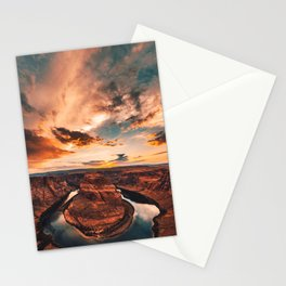 horse shoe bend canyon Stationery Cards